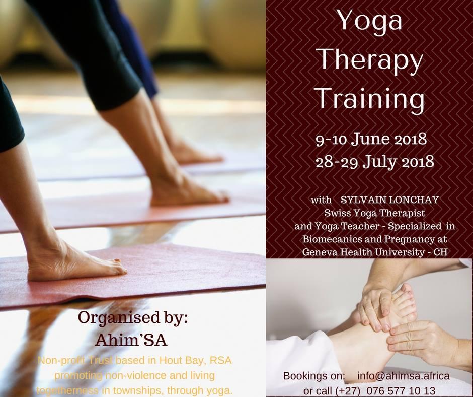 Yoga Therapy Training 9 June 2018 Ahim Sa